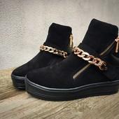 Зимние ботинки (Кожа,замш)