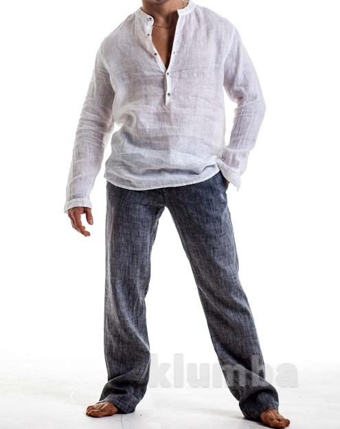 Мужская льняная летняя рубашка, большой и очень большой размер, рост есть! фото №1