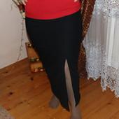 Черная длинная юбка женская с роспоркой