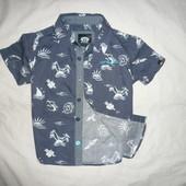 Рубашка летняя в морском стиле 3-4 года