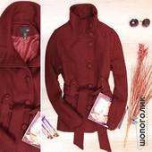 Пальто из необычной текстурной вафельной материи