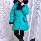 Модная теплая курточка для девочки Яна