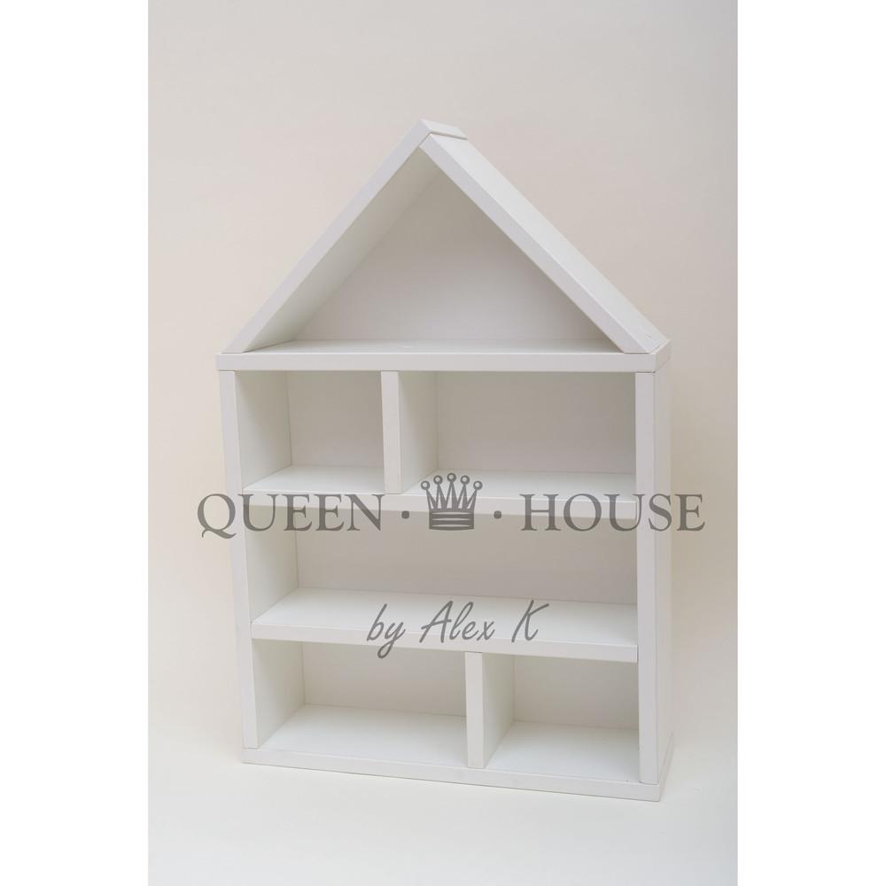 Белоснежный домик для кукол лол, стеллаж для машинок фото №1