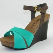 100-15-PN-5 Женская летняя обувь, босоножки женские материал - нубук, Inblu, Инблу