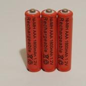Аккумулятор батарейка ААA 1800mah 1.2v 3шт.