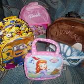 Сумка рюкзак детские принцесса Барби Кот Миньёны