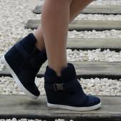 2 цвета Женские модные ботинки - сникерсы 36-41р