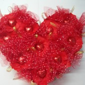 Букеты из конфет, сердце