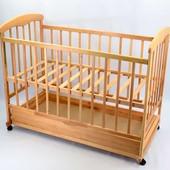Кроватка-качалка с шухлядкой 17 ясень светлый