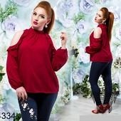 Стильная женская блуза 48р.14334