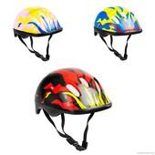 Детский защитный шлем код 466-120 для велосипедов роликов самокатов беговелов