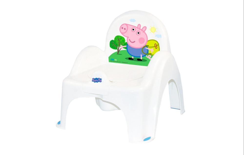 Музыкальный горшок-кресло tega peppa pig pp - 010 103-r white-pink фото №1