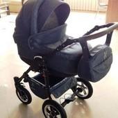 Новая! детская универсальная коляска Victoria Gold Saturn Len Plastic 2в1, серая slp2
