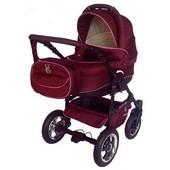 Новая! детская универсальная коляска Victoria Gold Saturn Len Plastic 2в1, бордовая, slp5