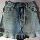 Фирменная джинсовая юбка =Place= с блёсточками (122-128)
