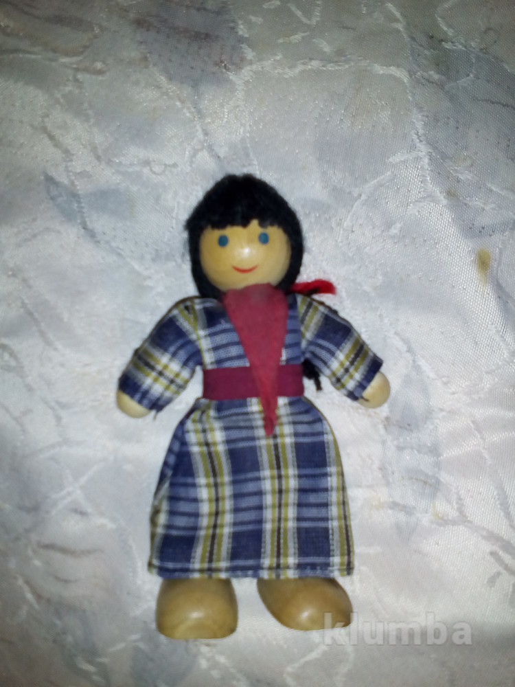 Деревянная фигурка куколка фото №1