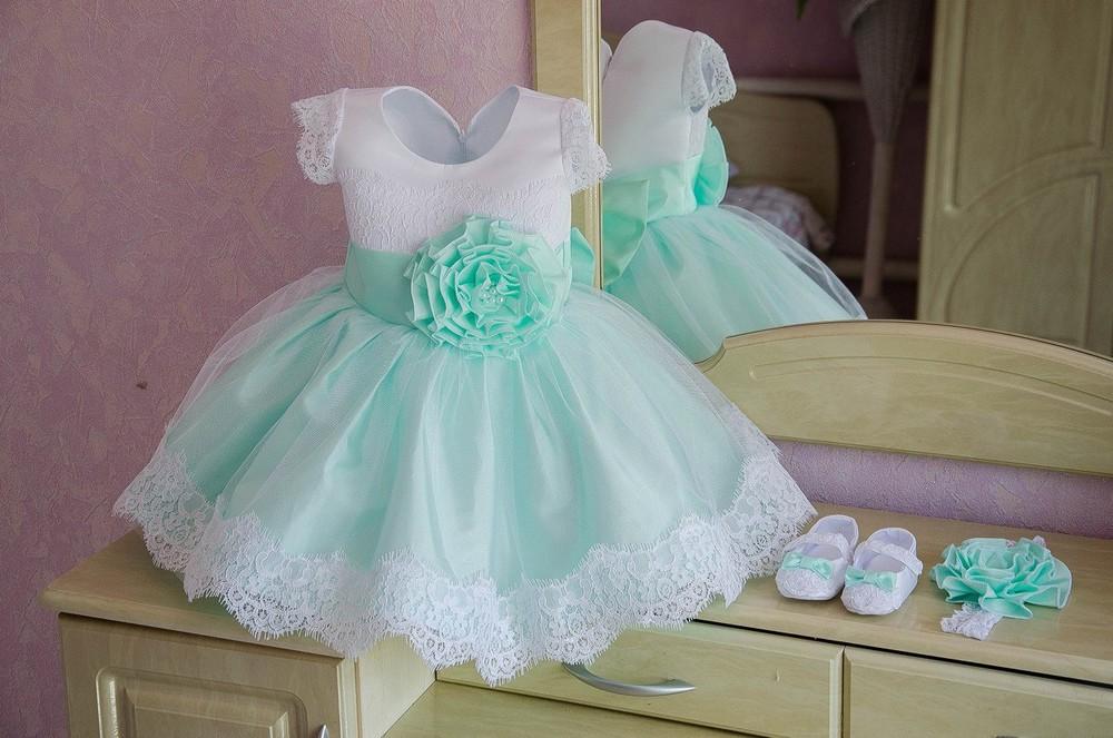 Пышное платье на годик девочке сшить 92