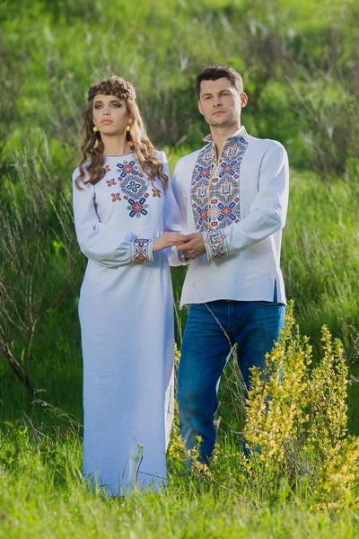 Вишиванка чоловіча і жіноча вишита сукня фото №1