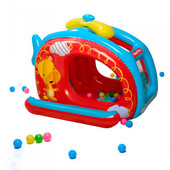 Игровой центр Вертолёт Fisher Price с 25 шариками, Bestway 93502
