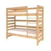 Кровать из бука-натуральное дерево, двухъярусная- без дополнительных опций Гарантия!Цвет-натуральный