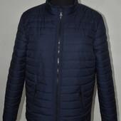 Черная и синяя Мужская демисезонная куртка весна осень