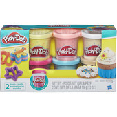 Плей До набор пластилина из 6 баночек с конфетти Play-Doh (B3423) Hasbro плей-дох