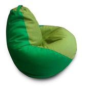 Кресло-груша 120х90 см из микро-рогожки зелено-салатовое