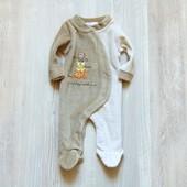Милейший велюровый человечек для новорожденного. Ergee. Размер на бирке 0-1 месяц, будет дольше.