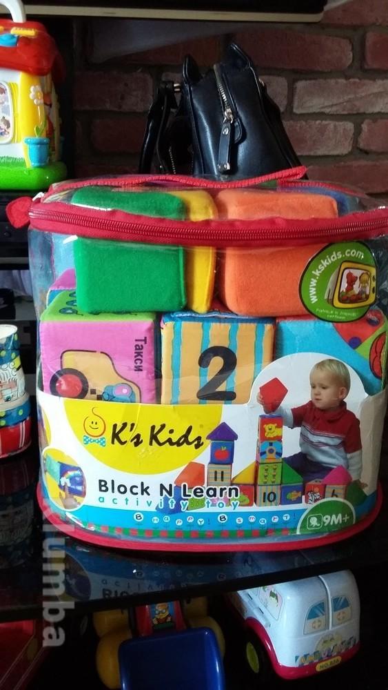 Мягкие развивающие кубики k`s kids фото №1
