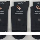 Носки мужские демисезонные х/б с лайкрой Житомир СН, 25,27,29 размер, чёрные, однотонные