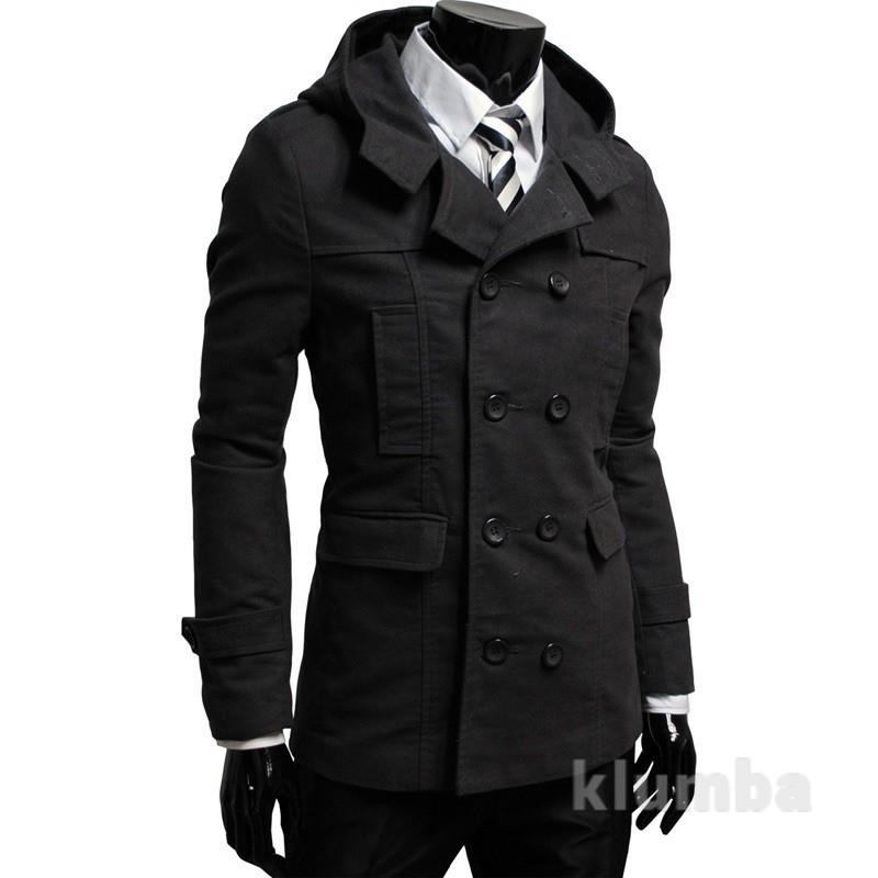 Тренч пальто мужской с капюшоном фото №1