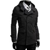 Тренч пальто мужской с капюшоном