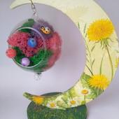 Подарок на новый год, необычное украшение для дома, романтический подарок - мини ваза и подставка