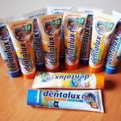 Зубная паста 100 мл ! Dentalux от 0 до 6 лет аромат пасты на выбор апельсин или фруктовый