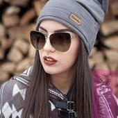 Модная шапка с ушками из замши в расцветках (8