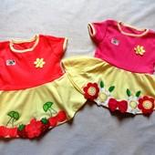 Красивые летние платья для принцесс, р. 74 92, в наличии