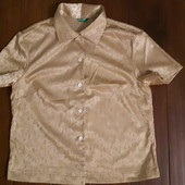 Блуза атласная от Benetton! p.-M