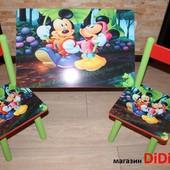 Детский стол Микки Маус, Минни и другие 60х40, 60х60