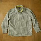 110-116 см H&M как новая рубашка хлопок. Длина - 49 см, ширина - 41 см, плечи - 34.5 см, рукав от пл