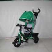 Новинка! Детский трехколесный велосипед с родительской ручкой LT-950D, Зелёный