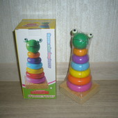Деревянные игрушки - пирамида (животные)
