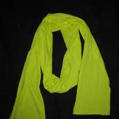 яркий неоновый шарф, длинный