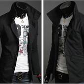 Куртка-пиджак,L, хL.Чёрный (2з