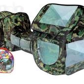 Палатка цвета камуфляж 999-144 - две игровых палатки с тоннелем