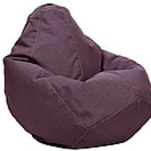 Сиреневое кресло-груша из микророгожки 100х75 см