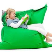 Ярко-зеленоЕ кресло-мат, подушка 120х140 см из микророгожки