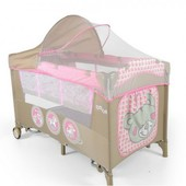 Манеж Milly Mally Mirage deluxe Pink Toys
