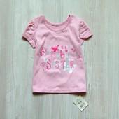 Новая нежная футболочка для девочки. George. Размер 6-9 месяцев