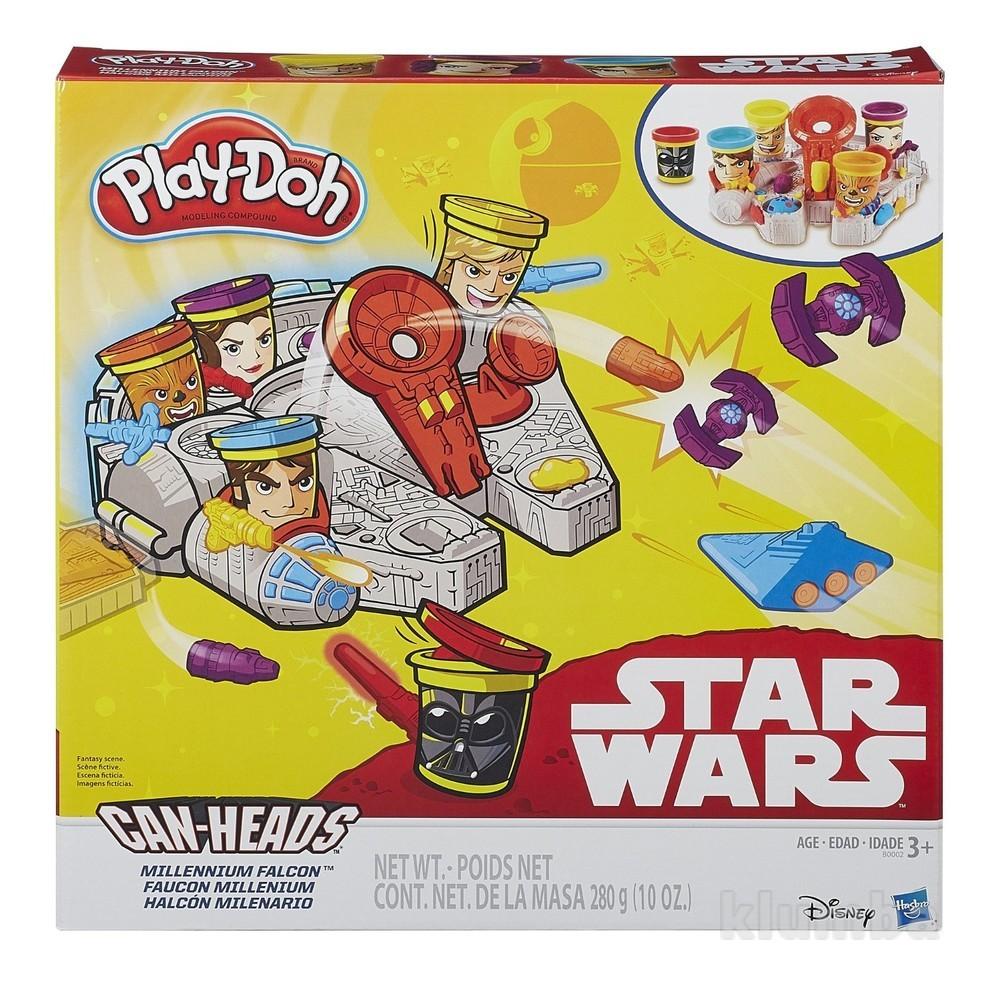 Игровой набор play-doh star wars тысячелетний сокол hasbro фото №1