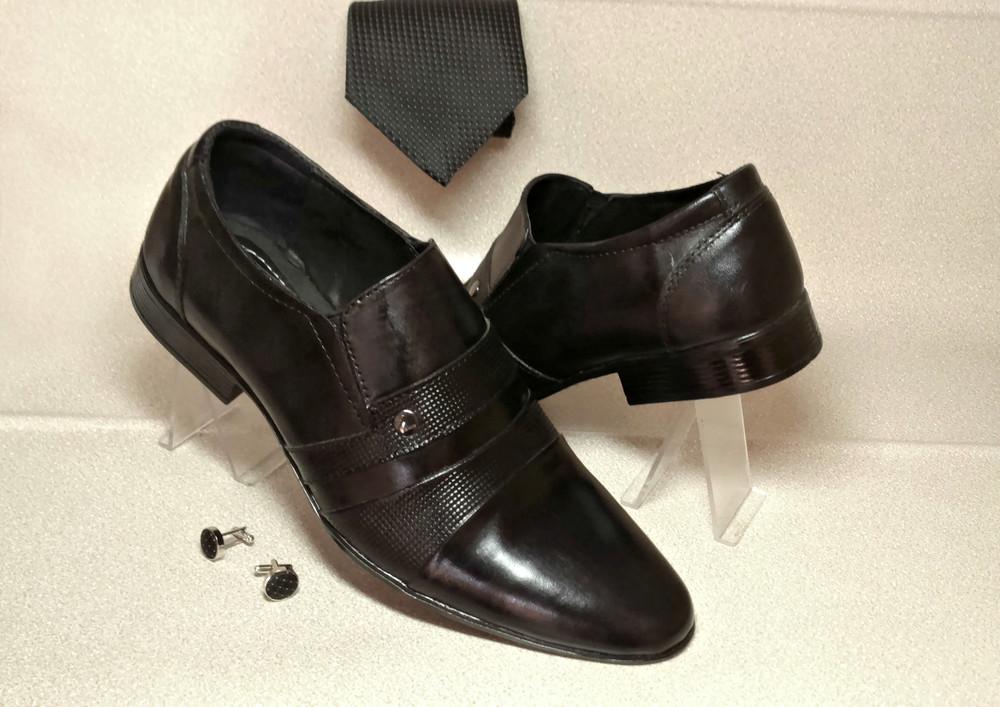 Классические туфли из натур кожи № 318 фото №1